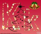 Christmas background, letter K