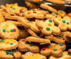 Assortment of decorated cookies for Christmas