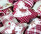 Christmas ornaments, fabric