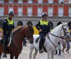 Municipal police on horseback, Madrid