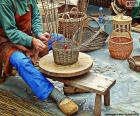 Weaver of baskets