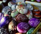 Eggs decorated with flowers
