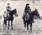 Two women cowboy