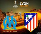 Olympique de Marseille vs Atletico Madrid. 2017-2018 UEFA Europa League Final, 16 may at the Parc OL Stadium in Lyon (France)