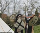 Two soldiers of the middle ages