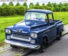 Chevrolet Apache blue pick-up manufactured in 1959