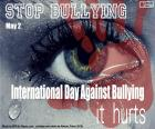 International Bullying Day, 2 May. A serious problem affecting many schoolchildren around the world