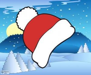 Red and white winter cap puzzle
