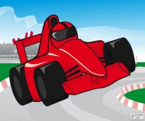 Red F1 racing car puzzle
