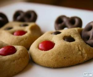 Reindeer Christmas cookies puzzle
