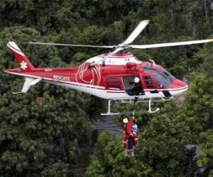 Rescue helicopter puzzle
