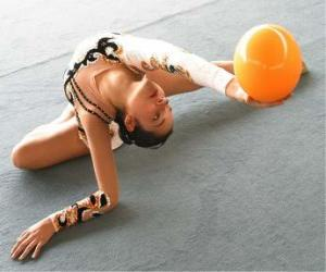 Rhythmic gymnastics - Ball exercise puzzle