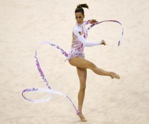 Rhythmic gymnastics - Ribbon exercise puzzle