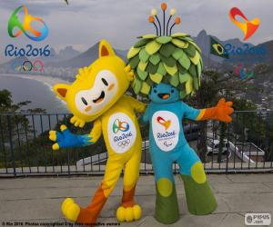Rio 2016 Olympic mascots puzzle