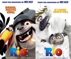 Rio movie posters, with some characters (2) puzzle