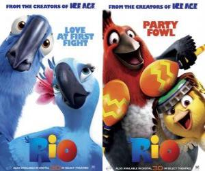 Rio movie posters, with some characters (1) puzzle