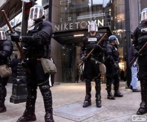 Riot police puzzle