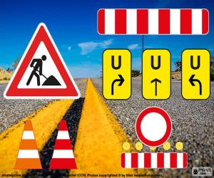 Road works signs puzzle