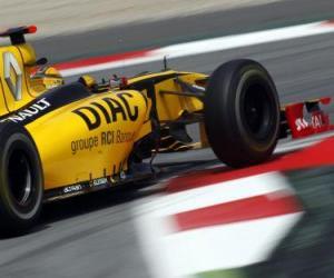 Robert Kubica - Renault - Barcelona 2010 puzzle