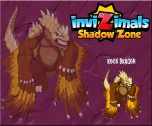 Rock Dragon. Invizimals Shadow Zone. Rock dragons live in the craters of volcanoes puzzle