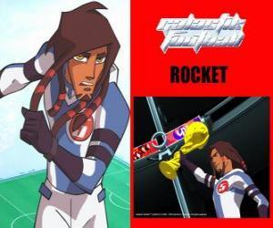 Rocket is the captain of the football team Galactic Snow-Kids with number 5 puzzle