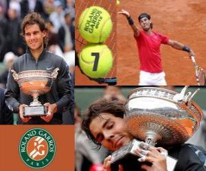 Roland Garros champion Rafael Nadal 2012 puzzle