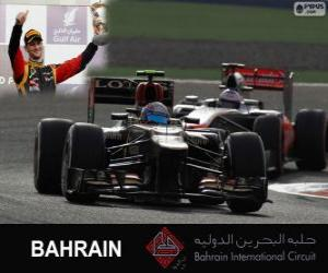 Romain Grosjean - Lotus - 2013 Bahrain Grand Prix, 3rd classified puzzle