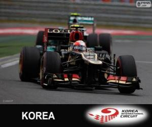 Romain Grosjean - Lotus - 2013 Korean Grand Prix, 3rd classified puzzle