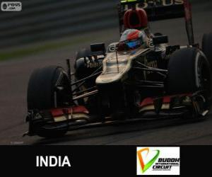 Romain Grosjean - Lotus - 2013 Indian Grand Prix, 3rd classified puzzle