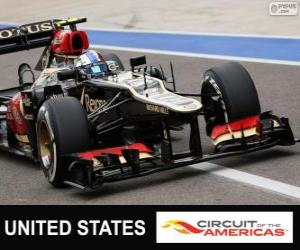 Romain Grosjean - Lotus - 2013 United States Grand Prix, 2º classified puzzle
