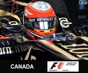 Romain Grosjean - Lotus - Circuit Gilles Villeneuve, Montreal, 2013 puzzle