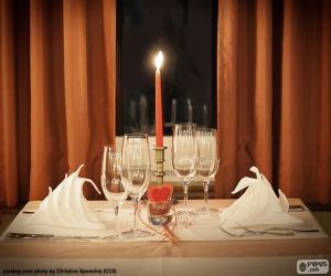 Romantic dinner puzzle