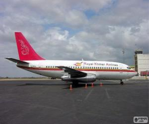 Royal Khmer Airlines was an aeroliniea of Cambodia (2000-2004) puzzle
