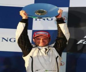 Rubens Barrichello in the podium puzzle