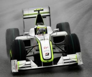 Rubens Barrichello piloting its F1 puzzle