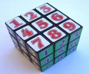 Rubik's Cube whit numbers puzzle
