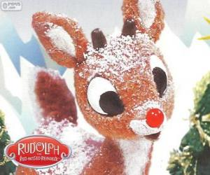 Rudolph, the little reindeer with red nose puzzle