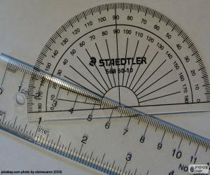 Ruler and protractor puzzle