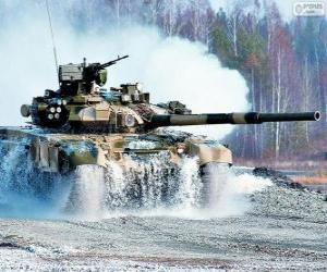 Russian tank T-90S puzzle