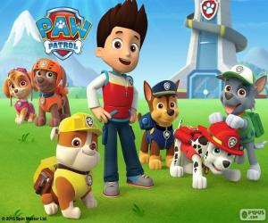 Ryder and dogs Paw Patrol puzzle