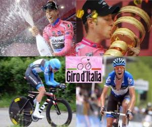 Ryder Hesjedal, winner of the Giro Italy 2012 puzzle