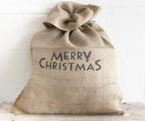 Sack with Christmas gifts puzzle