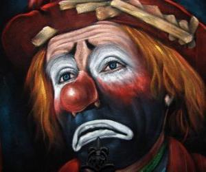 Sad clown face puzzle