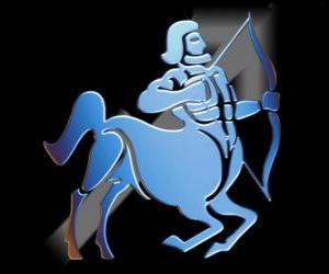 Sagittarius. The centaur, the archer. Ninth sign of the zodiac. Latin name is Sagittarius puzzle