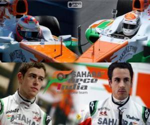 Sahara Force India F1 Team 2013 puzzle