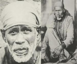 Sai Baba of Shirdi, indian guru, yogi and fakir who is regarded by his followers as a saint puzzle