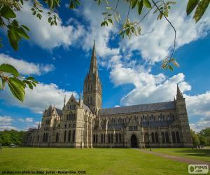 Salisbury Cathedral, England puzzle