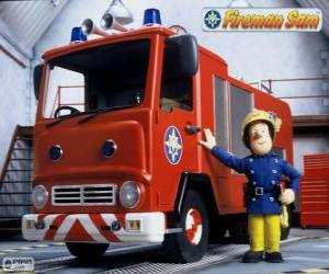 Sam next to Jupiter the fire truck puzzle