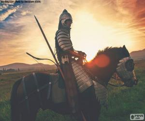 Samurai on horseback puzzle