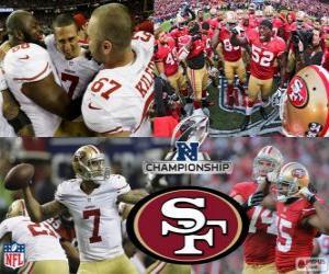 San Francisco 49ers NFC Champion 2012 puzzle
